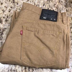 Men's Levi's jeans in tan